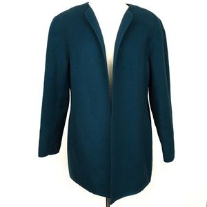 Vintage teal blue green 100% wool jacket 14